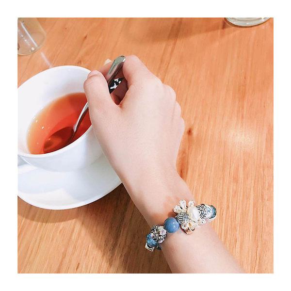 手環 波西米亞 多元素 拼接 水晶 串珠 手鍊【DD1707091】 BOBI  11/23