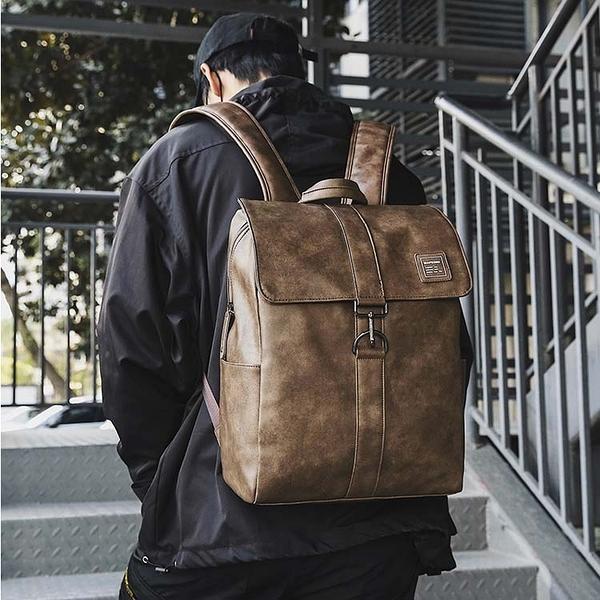 【5折超值價】潮流時尚復古休閒商務後背包