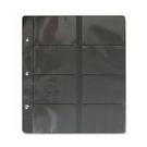 【珠友】WA-26008 黑底 3孔8格 名片內頁(1包5張)