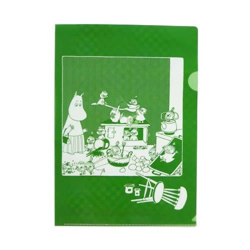 MOOMIN嚕嚕米日本製半透明水果色A4文件夾(奇異果綠)★funbox★Gakken_GK18590