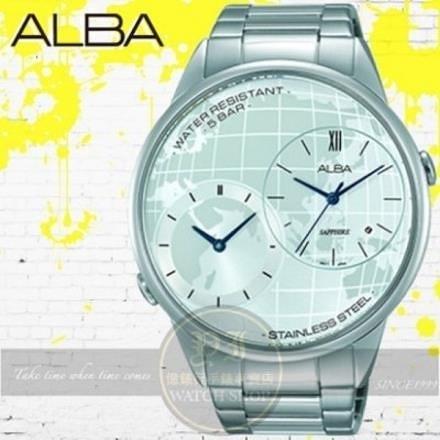 【南紡購物中心】ALBA劉以豪代言PRESTIGE系列兩地時間商務型男腕錶DM03-X002S/AZ9013X1公司貨