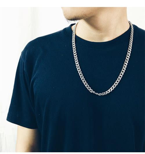 霸氣潮男士嘻哈鈦鋼日韓版個性首飾時尚配飾品鎖骨鏈子PLL3928【男人與流行】