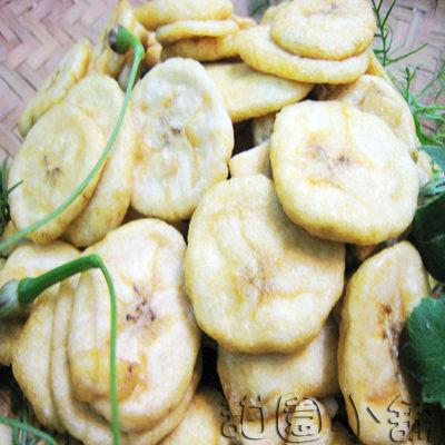 香蕉脆片 大包裝 300g 水果餅乾 乾燥水果 脫水水果 水果脆片 素食 【甜園】