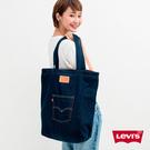 Levis 男女同款 丹寧托特包 / 經典後口袋設計 / 質感皮標