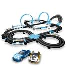 汽車跑道音速風暴兒童玩具男孩電動遙控手搖軌道賽車雙人抖音同款 NMS小明同學