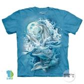 【摩達客】(預購)美國進口The Mountain 夜月海豚 純棉環保短袖T恤(YTM104174996029)