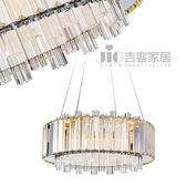 [吉客家居] 吊燈 圓舞曲LED水晶吊燈 金屬水晶造型時尚後現代工業餐廳民宿咖啡館居家飯店D