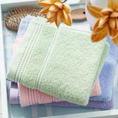 毛巾棉質舒適蓬鬆柔軟潔面巾吸水素色洗臉巾四條禮盒裝【新店開張85折促銷】