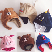 動物立體造型加絨護耳帽 童帽 帽子 針織帽