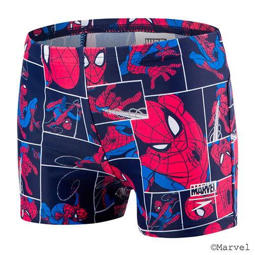 (A3) SPEEDO 男童 休閒四角泳褲 蜘蛛人 海軍藍/紅 - SD805394C887[陽光樂活]