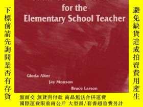 二手書博民逛書店Social罕見Studies Content For The Elementary School Teacher