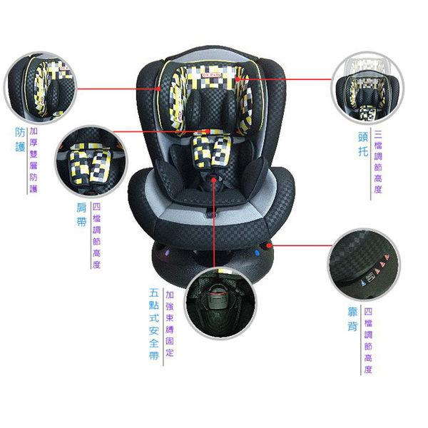 【奇買親子購物網】Ok baby 0-12 汽車安全座椅(紅黑/黃格子黑)
