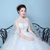 婚紗禮服 齊地婚紗綁帶旅拍婚紗影樓主題婚紗一字肩蓬蓬裙「夢娜麗莎 館」
