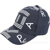 KENZO 品牌幾何LOGO尼龍棒球帽(深藍色) 1840044-34