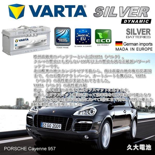 ✚久大電池❚ 德國進口 VARTA 銀合金 I1 110Ah LN6 Porsche BMW AUDI 德國 原廠電瓶