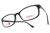 Alphameer 光學眼鏡 AM3504 C01 (黑) 簡約方框款 塑鋼眼鏡 # 金橘眼鏡