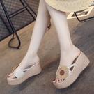 巴厘島夾腳拖鞋 女外穿夏季新款時尚厚底人字拖坡跟防滑百搭沙灘鞋 降價兩天