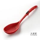 火鍋漏勺 火鍋汤勺 家用硅膠湯勺漏勺套裝食品級廚房長柄火鍋不黏鍋大號勺子