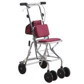 新款老人代步車折疊購物座椅可坐四輪買菜助步可推老人手推車 快速出貨免運