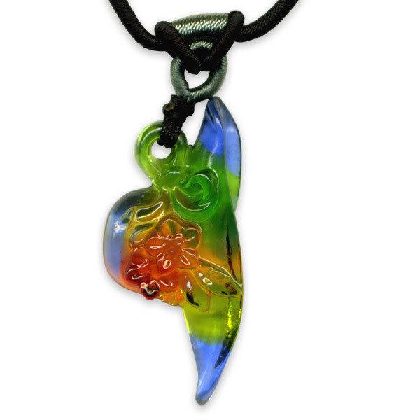 鹿港窯~居家開運水晶琉璃項鍊~貌美如花 附精美包裝◆免運費送到家◆