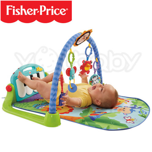 費雪 Fisher-Price 可愛動物小鋼琴健身器 /健力架