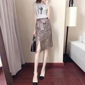 2019夏裝新款鏤空蕾絲包臀半身裙一步裙修身顯瘦女高腰a型裙中裙
