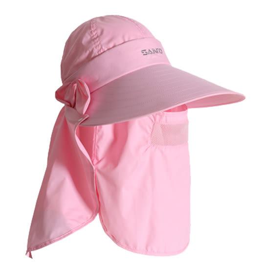 山拓防曬帽戶外遮臉遮陽帽太陽帽子防紫外線透氣速干帽夏天女大沿