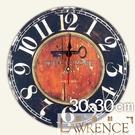 【Lawrence羅蘭絲】炙熱紅心木質復古時鐘 鄉村歐美 壁掛掛鐘 居家佈置 裝飾畫 民宿 咖啡廳-JFZ166