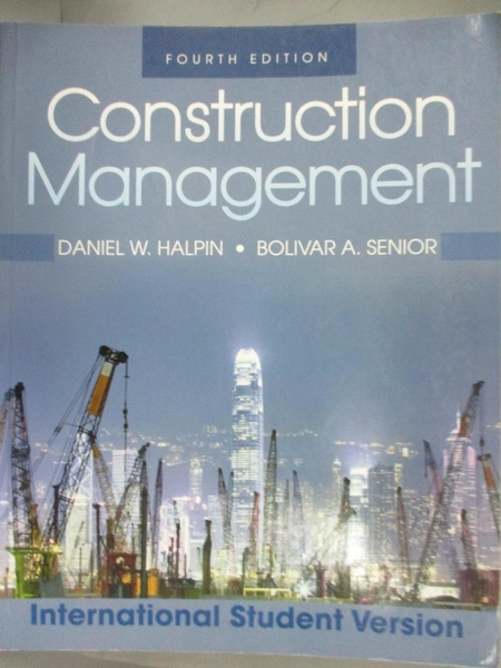 【書寶二手書T6/大學商學_XCQ】Construction Management_Halpin