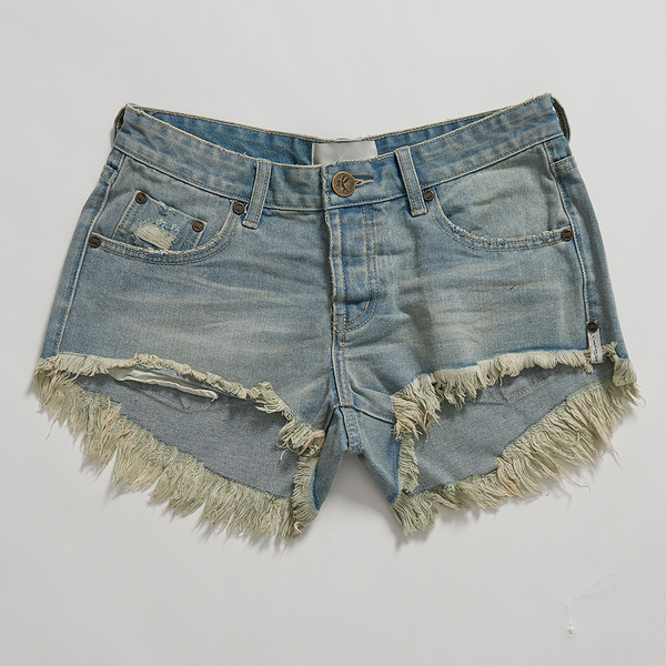 ONETEASPOON COUNTRY BONITA LOW WAIST 牛仔短褲--藍(女)