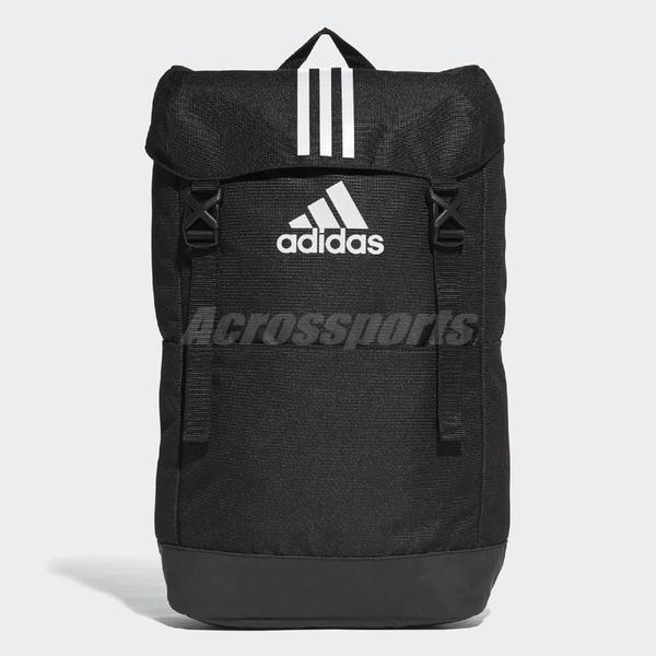 adidas 後背包 3-Stripes Backpack 黑 白 上方開口 基本款 包包 【PUMP306】 CF3290