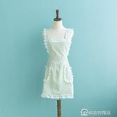 圍裙韓版時尚女可愛公主日繫做飯防水防油家用蕾絲工作服廚房裙子 快速出貨