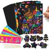 刮畫紙兒童炫彩100張涂鴉8k手工DIY制作彩沙沙畫玩具 GY629『寶貝兒童裝』