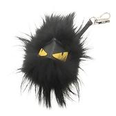 FENDI 黑色長毛球小怪獸吊飾 鑰匙釦 Bag Bug Charm 【BRAND OFF】