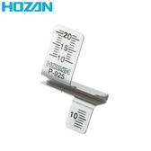 又敗家  HOZAN 寶山剝線測量器P 925 剪電線長度測量水電檢定工具剝線鉗測距測距尺規 具