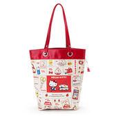 Hello Kitty手提袋 懷舊風格手提袋/側背包/肩背包 [喜愛屋]
