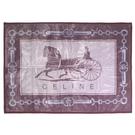 CELINE經典馬車圖騰保暖小蓋毯禮盒(粉紫色)084101-2