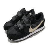 Nike 休閒鞋 MD Valiant TDV 黑 金 童鞋 中童鞋 魔鬼氈 復古慢跑鞋 【ACS】 CN8560-009