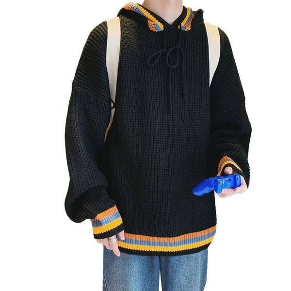 特惠 連帽毛衣男ins港風韓版寬松cec慵懶風外套潮流帥氣男士針織衫長袖