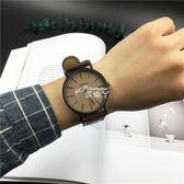 手錶男學生韓版簡約潮流手錶女時尚皮帶休閒石英錶 俏腳丫