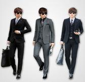 西裝套裝含西裝外套+褲子-典型經典商務成套男西服3色6x23【巴黎精品】