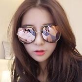 墨鏡女潮 眼鏡2018新款圓形彩色太陽鏡女圓臉韓國復古眼鏡