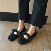毛絨鞋 2018冬季新款加絨毛毛鞋女韓版冬外穿平底豆豆鞋船鞋棉瓢鞋女鞋 Cocoa