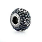 swarovski施華洛世奇水晶元素 串珠-限量 情人愛心 黑白愛心 潘朵拉風格 84402
