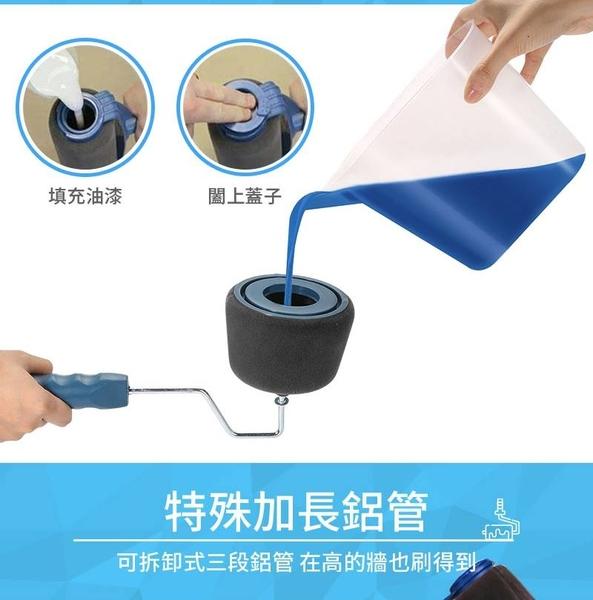 現貨!油漆刷 六件組 滾刷 填充式滾筒油漆刷 全方位滾桶刷 免沾油漆 粉刷牆壁 海綿托盤 #捕夢網