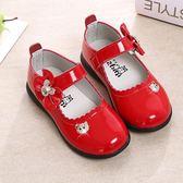 童鞋女童皮鞋黑色公主鞋春秋季軟底寶寶鞋子兒童單鞋小學生演出鞋-Ifashion