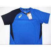 【ASICS亞瑟士】2018台灣製 排球球衣 吸濕速乾 抗UV K11805-43 藍 [陽光樂活=]