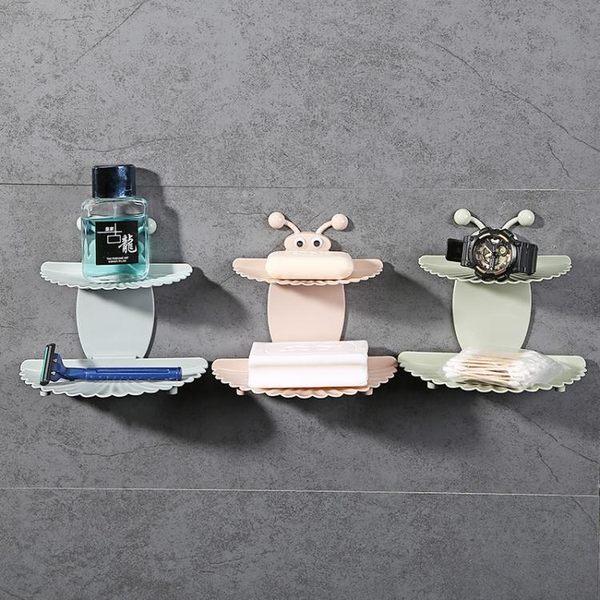 肥皂架浴室免打孔雙層吸盤肥皂盒創意壁掛肥皂架瀝水 全館免運