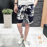 大碼休閒短褲寬鬆五分褲沙灘褲【橘社小鎮】