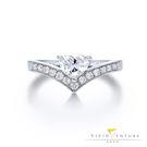 GIA鑽石戒指 FVS2 18K金台 亞...